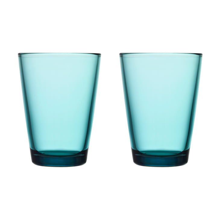 Kartio Drinking glass 40 cl (set of 2) from Iittala in sea blue