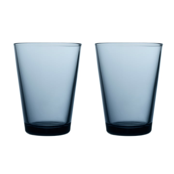 Kartio Drinking glass 40 cl (set of 2) from Iittala in rain blue