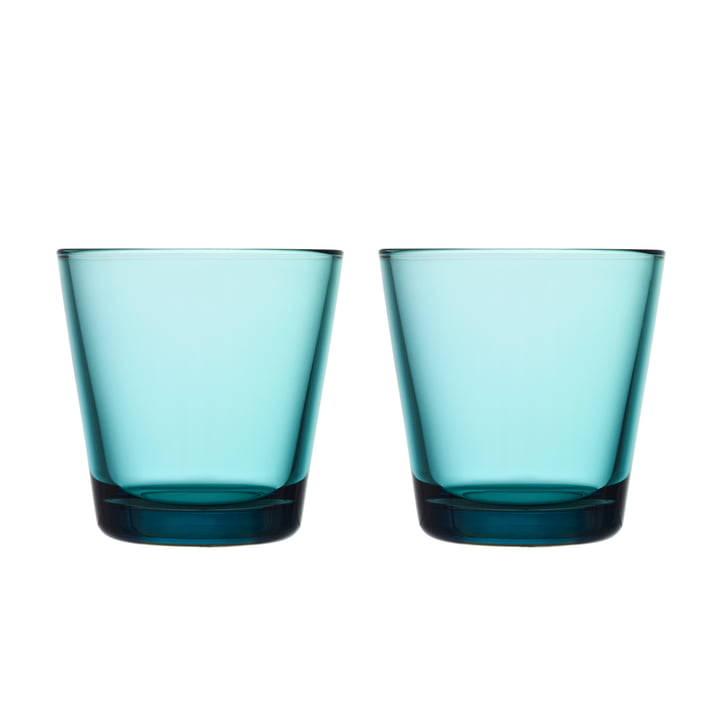 Kartio Drinking glass 21 cl (set of 2) from Iittala in sea blue