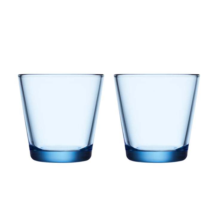 Kartio Drinking glass 21 cl (set of 2) from Iittala in aqua
