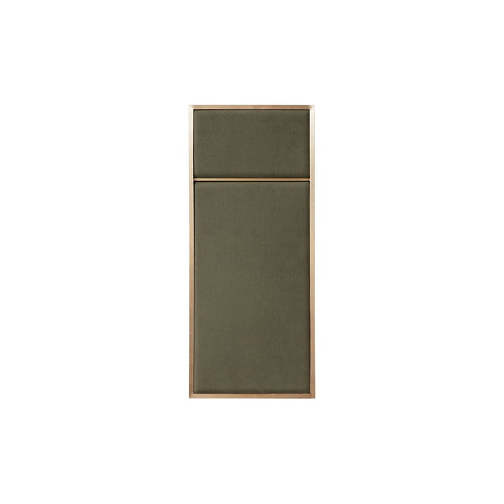Nouveau pinboard S, 62,3 x 27,6 cm, brass / oyster grey from Please wait to be seated