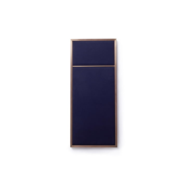 Nouveau Pinboard S, 62.3 x 27.6 cm, brass / navy blue from Please wait to be seated
