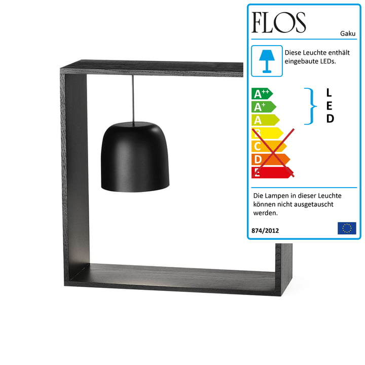 Gaku Wire Battery Table Light (LED) from Flos in black