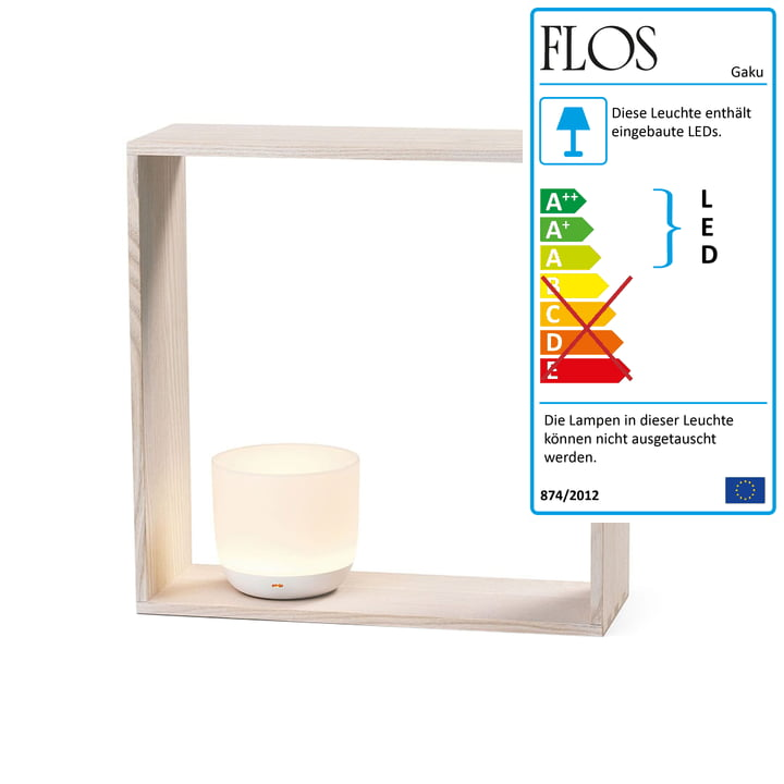 Gaku Wireless LED Table Light from Flos in white