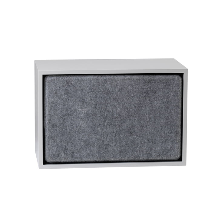Stacked Acoustic Panel, large in grey melange by Muuto