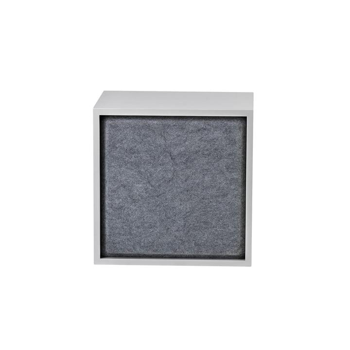 Stacked Acoustic Panel, medium in grey melange by Muuto