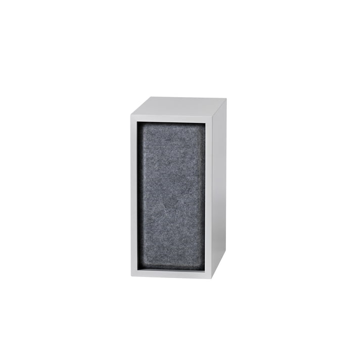 Stacked Acoustic Panel, small in grey melange by Muuto