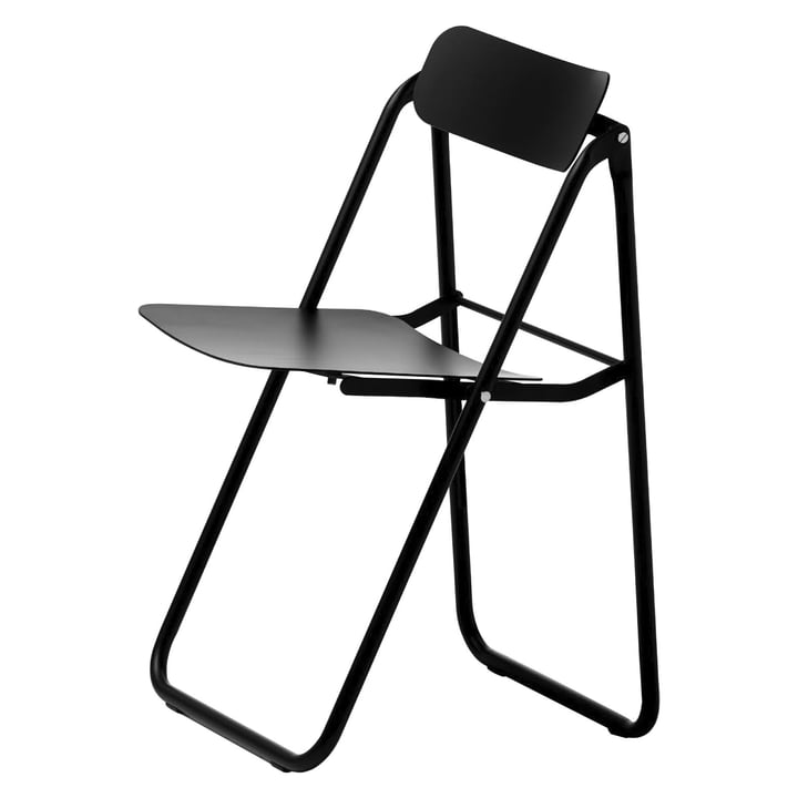 Con.fort folding chair in black by Opinion Ciatti