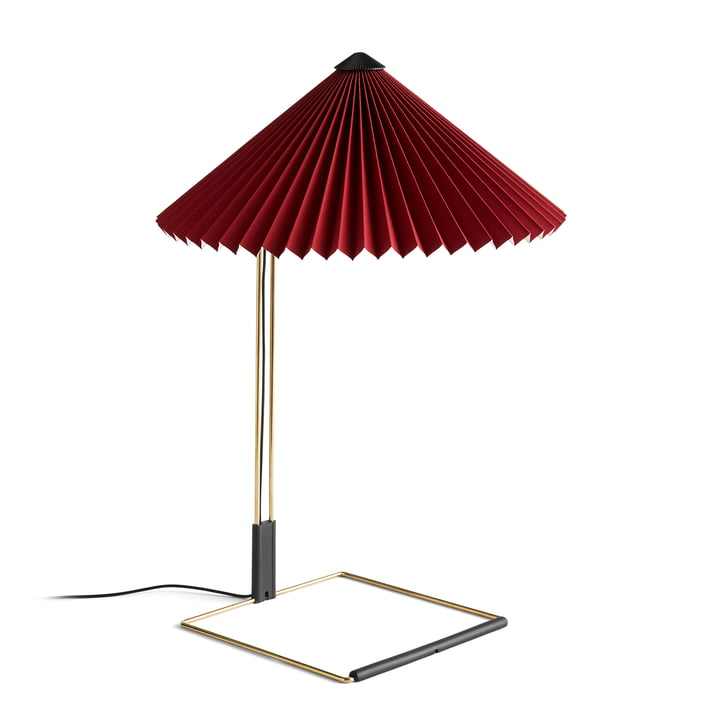 Matin LED table lamp L, oxide red by Hay