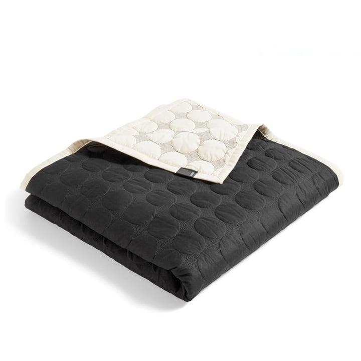 Mega Dot bedspread 195 x 245 cm by Hay in black / créme