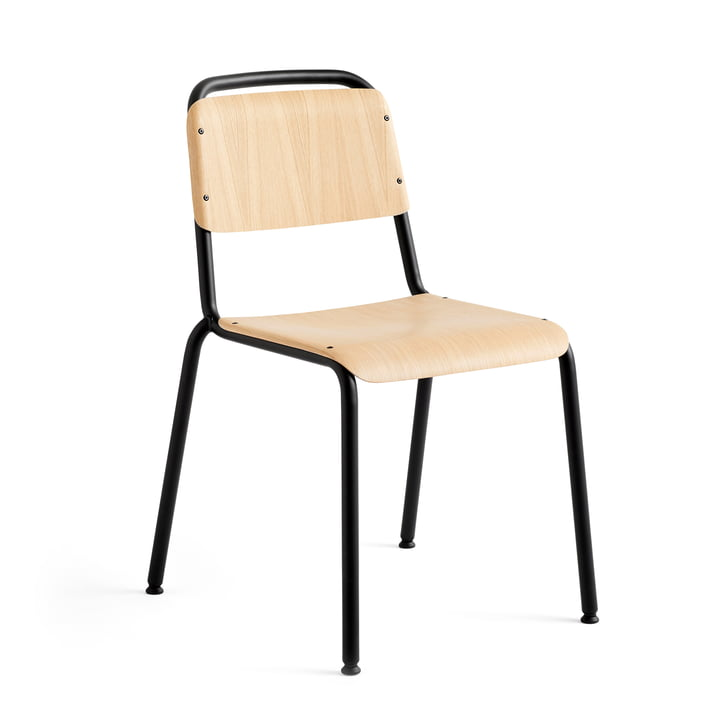 Halftime chair, black powder coated / oak matt lacquered by Hay