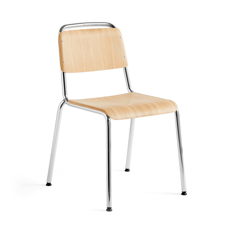 Halftime chair, chrome / oak matt lacquered by Hay