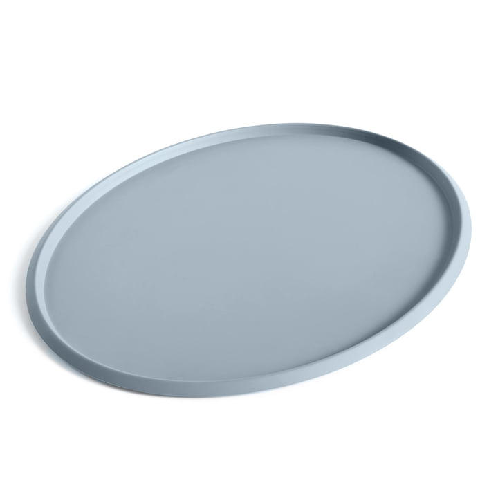 Ellipse Tray XL in dusty blue by Hay