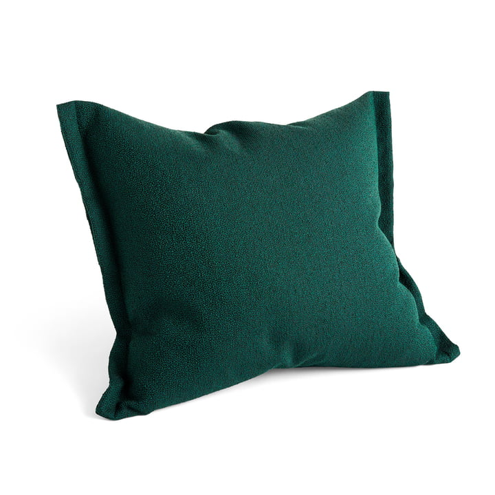 Plica Sprinkle pillow, 60 x 55 cm in dark green by Hay