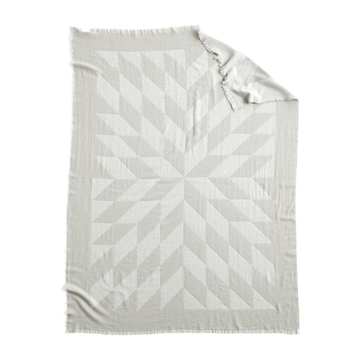 Star woollen blanket, 180 x 130 cm in grey by Hay