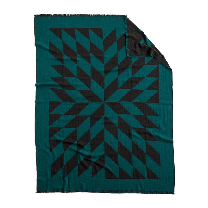 Star rug, 180 x 130 cm, dark green by Hay