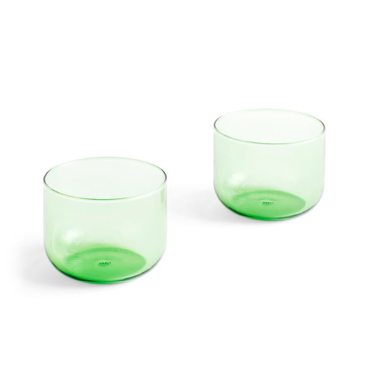 Tint drinking glass 200 ml in green (set of 2) by Hay