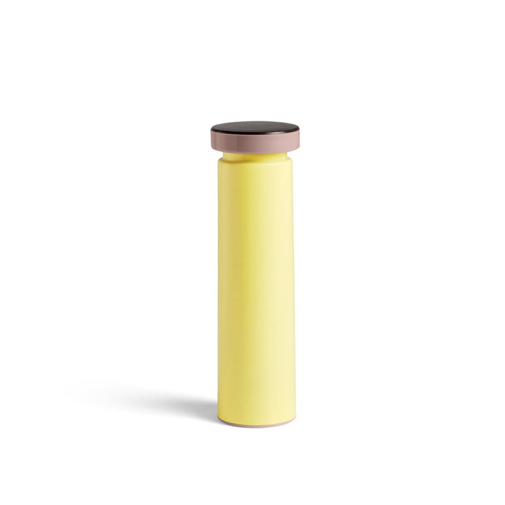 Sowden salt and pepper mill M, Ø 6 x H 20 cm in yellow by Hay