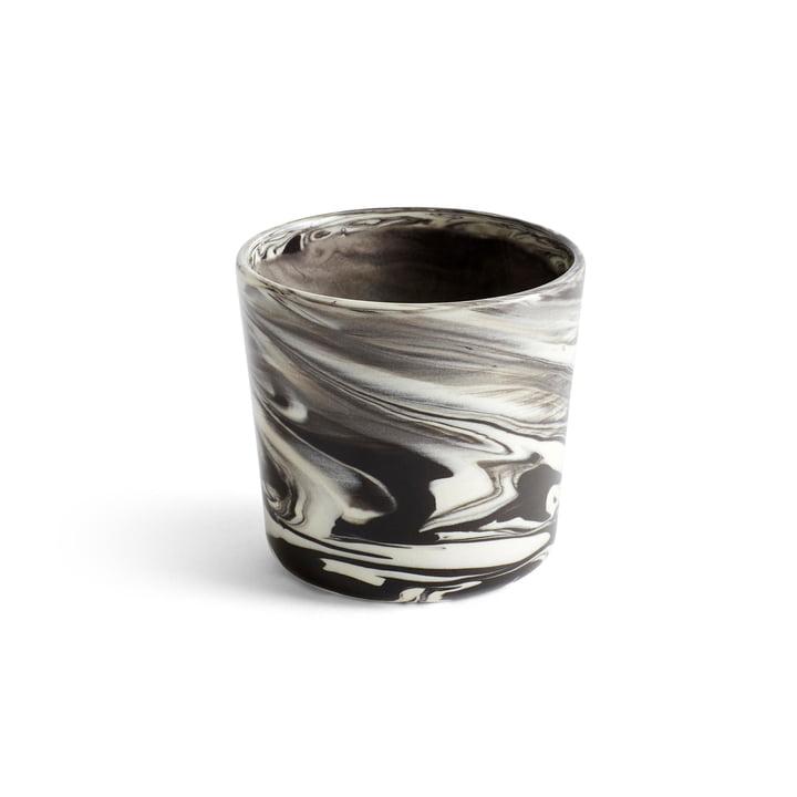 Marbled Cup, Ø 8 x H 7,5 cm in black by Hay