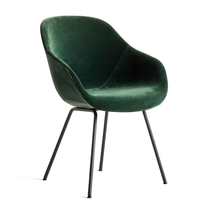 About A Chair AAC 127, steel powder coated black / Lola dark green by Hay