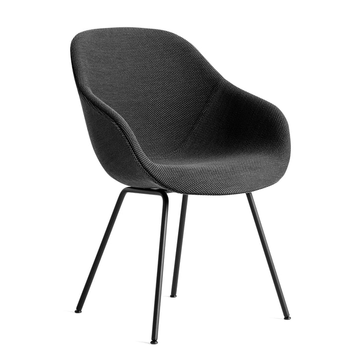 About A Chair AAC 127, steel powder coated black / Dot 1682 anthracite by Hay