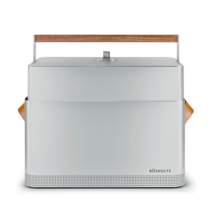 BBQ table grill in brushed stainless steel / cognac by Röshults