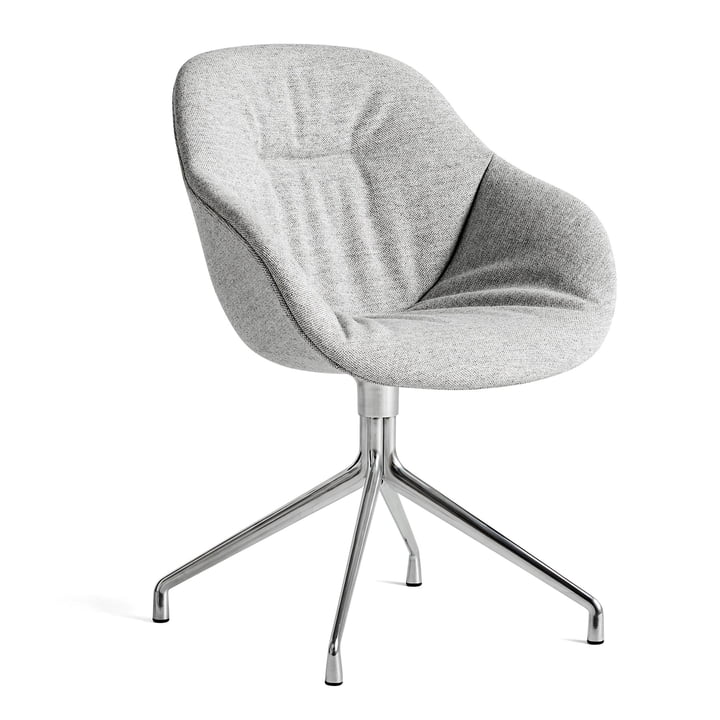 About A Chair AAC 121 Soft, polished aluminium / Hallingdal 116 by Hay