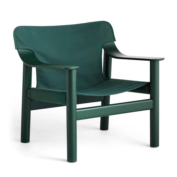 Bernard armchair, beech lacquered / canvas hunter green from Hay