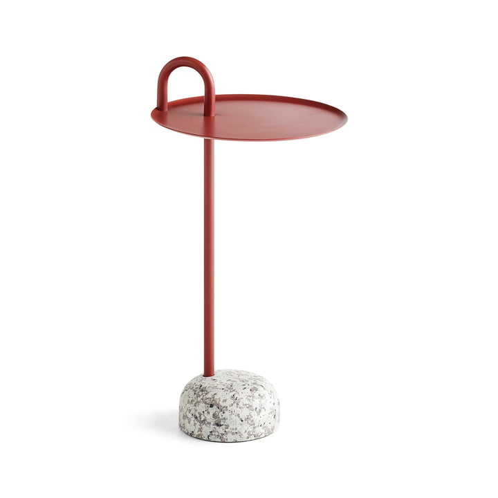 Bowler side table, Ø 36 cm / H 70,5 cm in tile red by Hay
