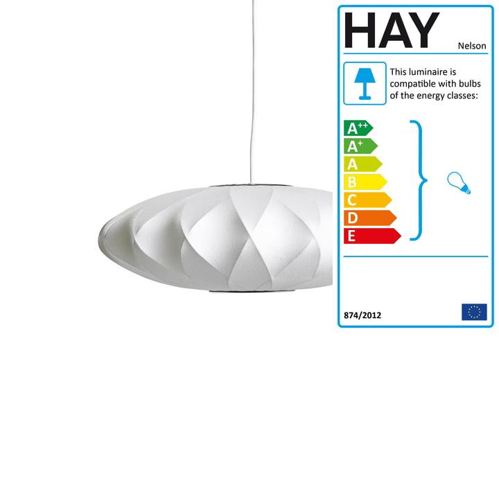 Nelson Saucer Crisscross Bubble Pendant Lamp S, Ø 4 4. 5 x H 19 cm, off white by Hay