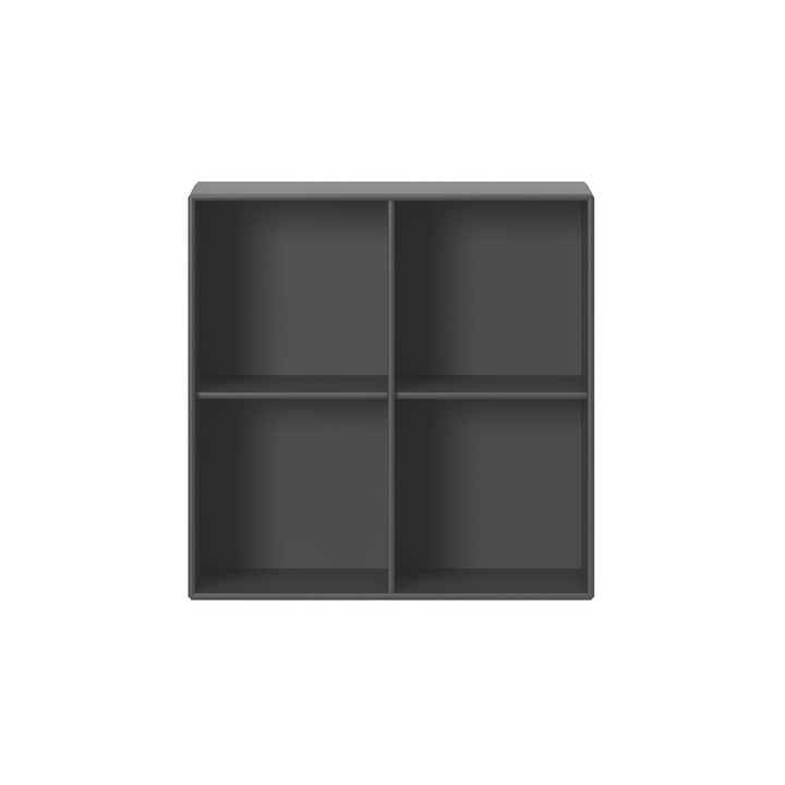 Show shelf module 1112 with wall suspension, anthracite by Montana