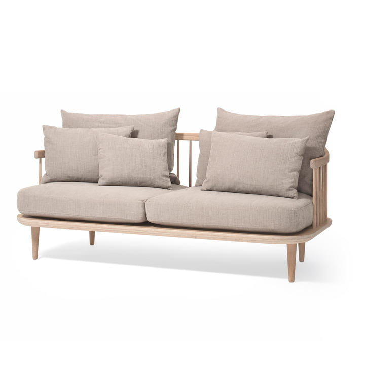 FLY 2-seater sofa SC2 in white oiled oak / Hot Madison (94) by & tradition
