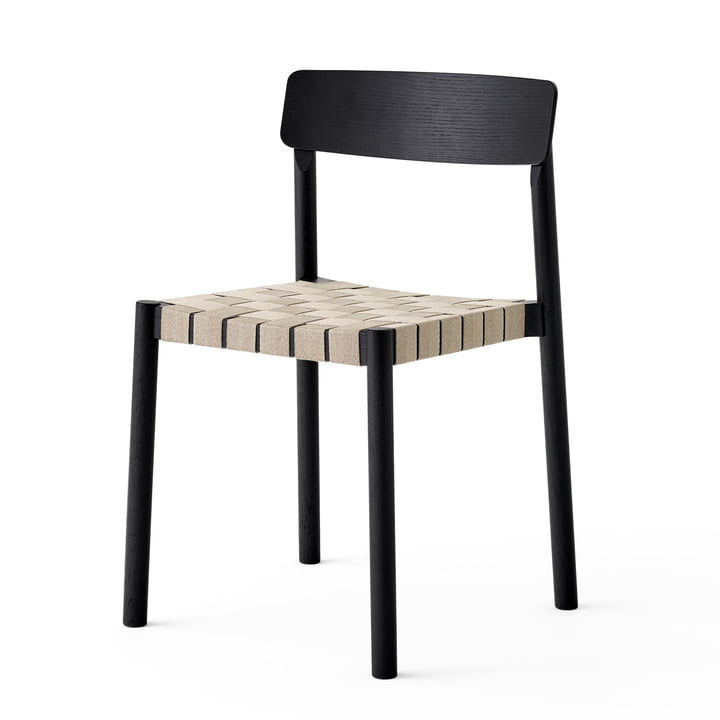 Betty TK1 chair in black / natural from & tradition