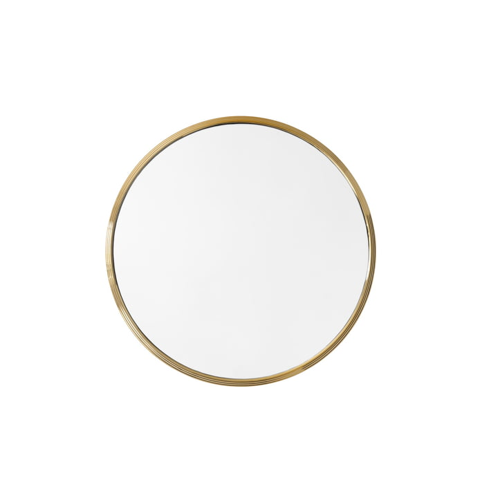 Sillon wall mirror SH4, Ø 46 cm in brass from & tradition