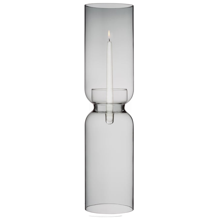Lantern candlestick 600 mm from Iittala in dark grey