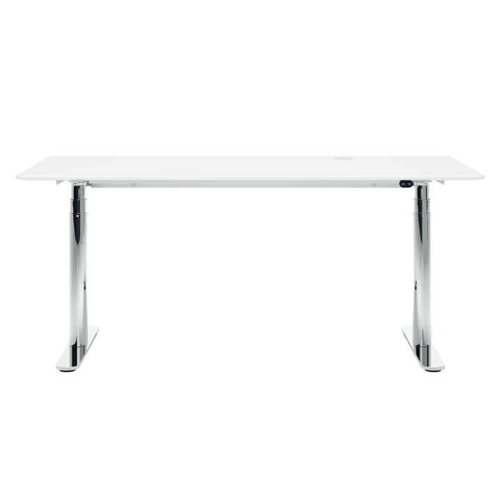 HiLow 2, height adjustable desk, 160 x 80 cm, chrome / snow by Montana