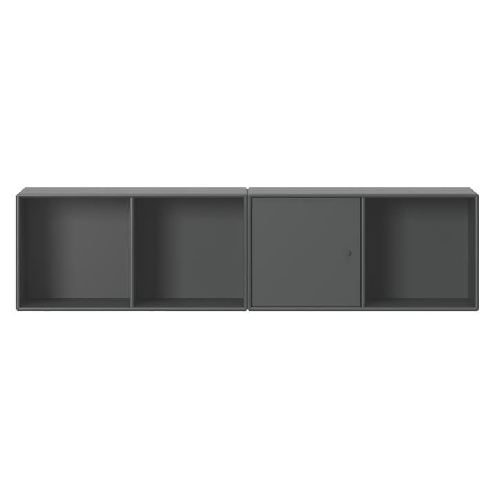 Line shelf with Montana suspension in anthracite