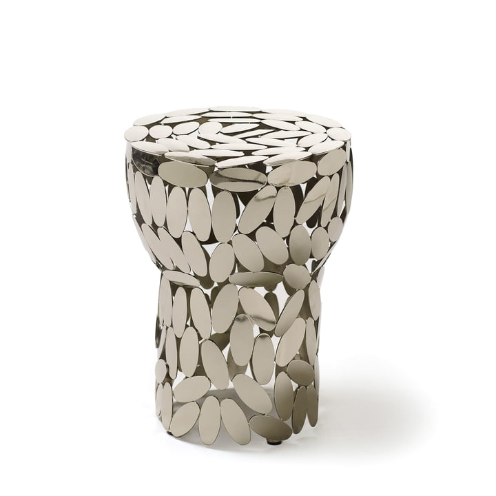 Foliae stool / side table by Opinion Ciatti in Nickel