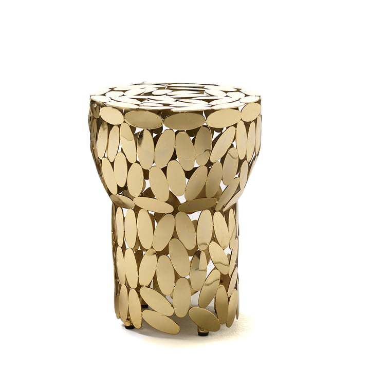 Foliae stool / side table by Opinion Ciatti in gold