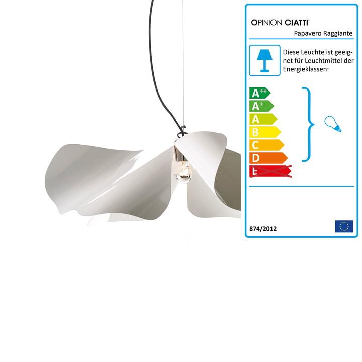 Papavero Raggiante pendant lamp S by Opinion Ciatti in white