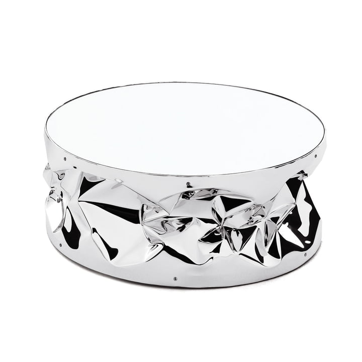 Tab.u Collection Side table H 25 Ø 60 cm from Opinion Ciatti in chrome