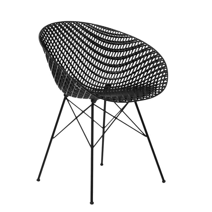 Smatrik chair in black by Kartell