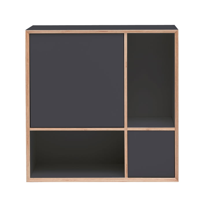 Vertiko Ply Sideboard Two by Müller Möbelwerkstätten in CPL anthracite (RAL 4500)