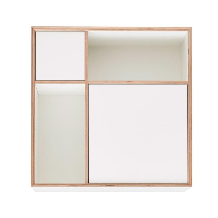 Vertiko Ply Sideboard Three by Müller Möbelwerkstätten in CPL pure white (RAL 9010)