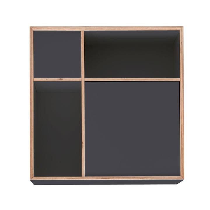 Vertiko Ply Sideboard Three by Müller Möbelwerkstätten in CPL anthracite (RAL 4500)