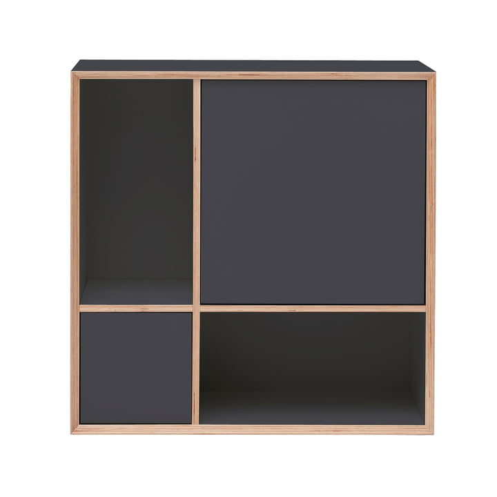 Vertiko Ply Sideboard Four by Müller Möbelwerkstätten in CPL anthracite (RAL 4500)