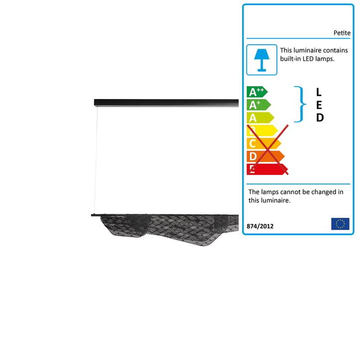 Mediterranea LED pendant small from Petite Friture in black