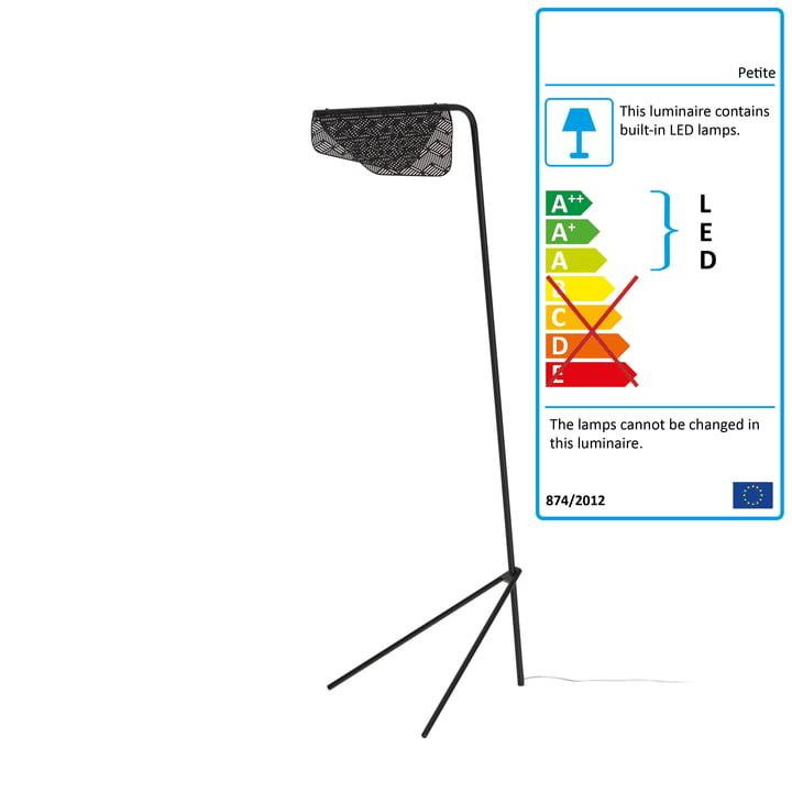 Mediterranea LED Floor Lamp by Petite Friture in black