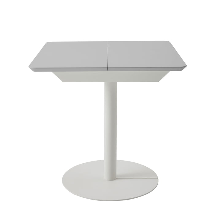 Duotable desk from Müller Möbelwerkstätten in pure white (RAL 9010) / light grey (RAL 7035)