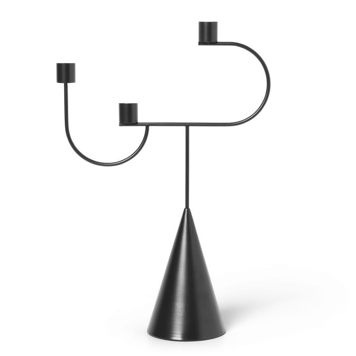 Avant candle holder from ferm Living in black